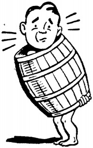 Man in a Barrel