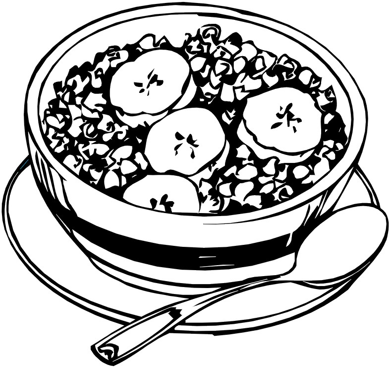 bowl of cereal coloring pages - photo#25