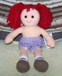 Darice Rag Doll in Bloomers