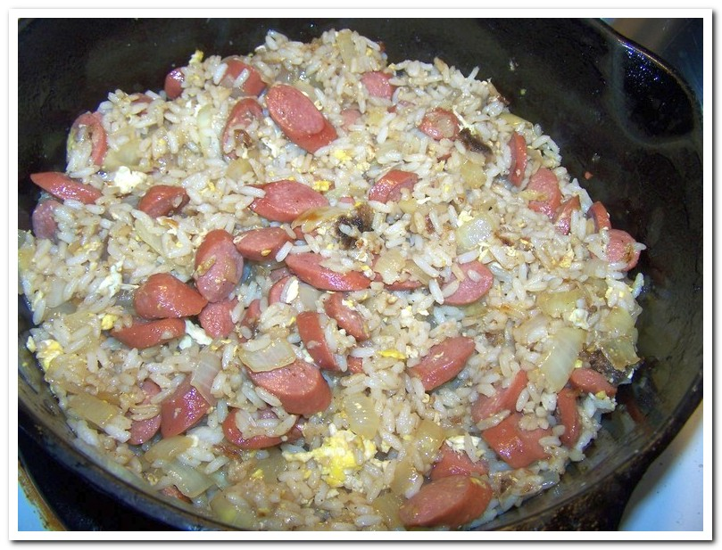 Fried Rice & Hot Dogs